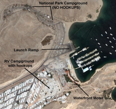 Cottonwood Cove Aerial Pictures Lake Mohave Nevada